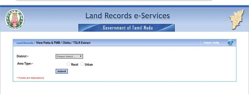 Tamil Nadu Land Record | Tamil Nadu Bhulekh Patta Copy FMB Chitta TN Land Record